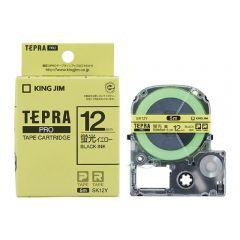 KING JIM SK12Y Tepra PRO Tape Cartridge(F.YE/BK)(12mm X 8m)   SK12Y