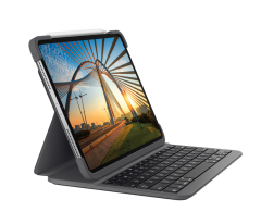 Logitech Slim Folio Pro foriPadPro 12.9英寸 第三代 和 第四代 鍵盤保護套 920-009722