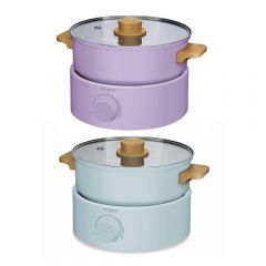 Stylies - Multi-functional Electric Cooker (Purple / Blue) SSG-GB80 SSG-GB80_all