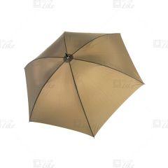 梁蘇記 - 拐杖手開長雨傘 - 啡色