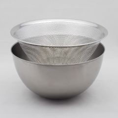 Sori Yanagi - [Made in Japan]Stainless steel Mixing Bowl & Strainer 23cm StrainerBowlSet23cm