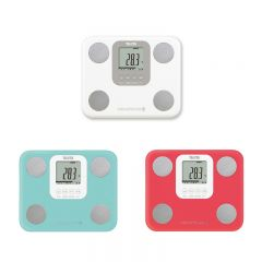 TANITA 7-in-1 Lightweight Body Composition Monitor (White/Pink/Light Blue) TANITA-BC759