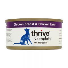 Thrive - 整全膳食雞肉+雞肝 貓罐頭75g (原箱12罐) Thr-ChiLiv75g-box