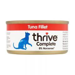 Thrive - 整全膳食吞拿魚魚塊 貓罐頭75g (原箱12罐) Thr-TunFil75g-box