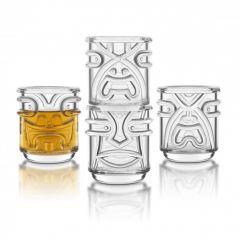 Final Touch - Tiki夏威夷圖騰玻璃酒杯 355ml(4隻裝) TK5303