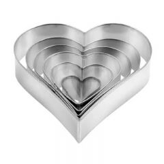 Tescoma - DELICIA Heart-Sharped Cookie Cutters