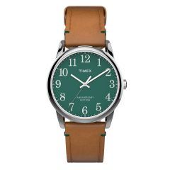 Timex Easy Reader 40th Anniversary Edition Horwin Leather Watch-Green TW2R35900