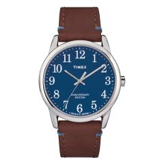 Timex Easy Reader 40th Anniversary Edition Horwin Leather Watch-Navy TW2R36000