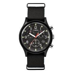 Timex MK1 Aluminum Chronograph 40mm Fabric Watch - Black TW2R67700