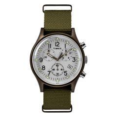 Timex MK1 Aluminum Chronograph 40mm Fabric Watch - Silver TW2R67900