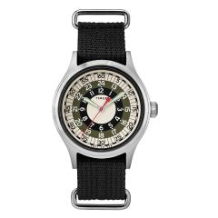 Timex X Todd Snyder 聯乘 40毫米織帶手錶-銀色/黑色/白色 TW2R78900