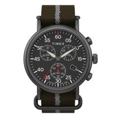 Timex 休閒計時碼 43毫米織帶手錶 - 綠色 TW2T73600