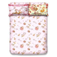Uji Bedding - 1900 thread count Bamboo Textile Characters Fitted Sheet + Pillow Case - Chip 'N' Dale(4 Sizes option) UJI-CD2101-MO