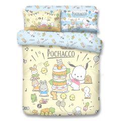 Uji Bedding - 1900 thread count Bamboo Textile Characters Bedding Set - Pochacco(4 Sizes option) UJI-PC2002-MO