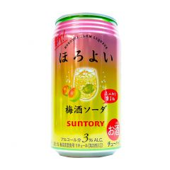 新得利 - 微醺梅酒梳味 3% 350毫升 (1支 / 6支 / 24支) (平行進口貨品) UMESHU_SODA_ALL