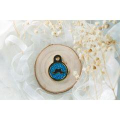Therese Pet Accessories 小鬍子閃粉滴膠小圓 VTSC001-P-Blue