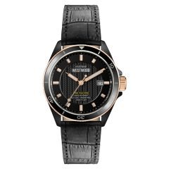 Vivienne Westwood Spitalfields Watch - Black (Genuine Leather Strap) VV181RSBK