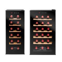 Vinvautz - 單溫區電子酒櫃 VZ12BHK (12 瓶/8 瓶)  VZ12_18_BHK
