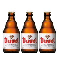 W00562_3 Duvel - Golden Ale Beer 330ml X3