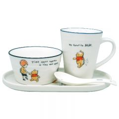 Disney - Pooh 4P Ceramic Tableware Set WC12476