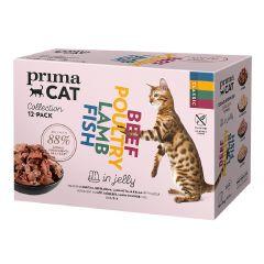 PRIMACAT - 無穀物混味雜錦盒(果凍系列) 12 x 85g x 28pcs WCIMFW11675ZZ