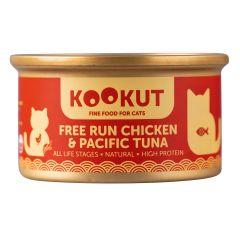 KOOKUT - 放養雞太平洋吞拿魚 (70g) (1罐 / 24罐) WCKUCW1008280_all
