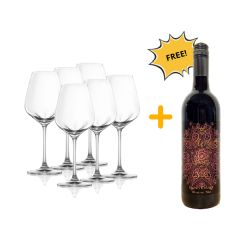 Woodsoak The Mirage Shiraz 2015 750ml x 1 btl + Lucaris Crystal Wine Glass - Universal x 6 pcs Woodsoak_Glass_Set
