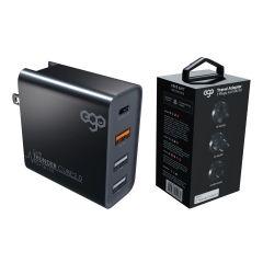 EGO - Thunder Cube 2.0 PD + QC3.0 50W 4輸出旅行充電器 (黑色)