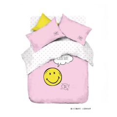 AIRLAND - Smiley Cotton bed sheet+pillow case x2 -XW222 XW222H3FDPC