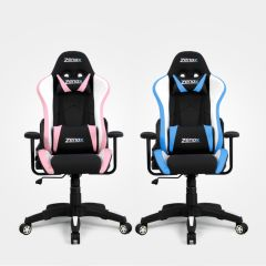 Zenox - Rookie Racing Chair (Sky Blue / Pink) Z-3076_all