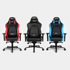 Zenox - Jupiter Racing Chair (Black / Sky Blue / Red) Z-8316_all