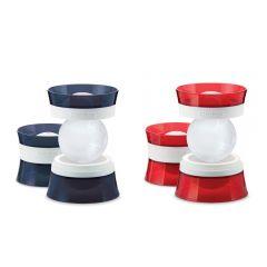 ZOKU - 特大冰球製造模具(2件裝) (紅色/藍色)
