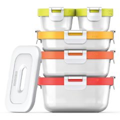 ZOKU - Neat Stack Nesting Food Container Lunch Set (11pcs) - Microwave Safe ZK301