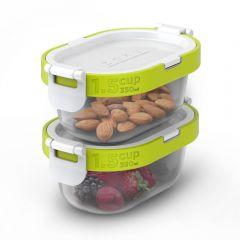 ZOKU - Neat Stack 可嵌式食物盒飯盒套裝 (4件裝) - 微波爐可用 ZK310