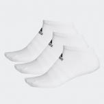 adidas -  Training Cushioned Low-Cut 船襪3對 - 白色