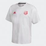 adidas -  Captsuba 足球小將 T恤白色/粉紅色