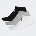 adidas Cushioned 船襪 3對 - 灰色