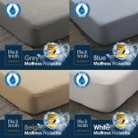 Black Smith - Waterproof Protector II Mattress Cover(Single/Double/Double Full/Queen/King Size) (4 colors option) BS_M001_Cover