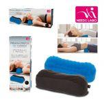 NEE32 NEEDS LABO - Waist/neck pressure relief silicone cushion (black sleeve blue cushion)