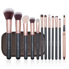 SIXPLUS 12Pcs Golden Makeup Brush Set 102068