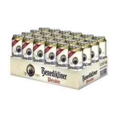 [原箱] Benediktiner Weissbier NATURTRÃœB; 24x0.5L Can 10218134