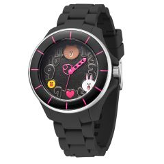 LINE FRIENDS 成人運動型八達通手錶 - All Black 122.7101