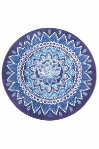 Rising Lotus曼荼羅瑜伽墊海軍藍(大碼)