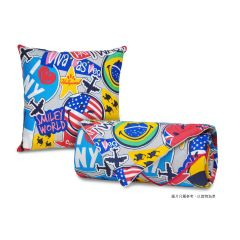 """AIRLAND - Smiley Cushion with Summer quilt 60""""x86"""" -XW082 2013-I1QC0060"""
