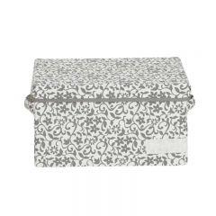 SOHO NOVO 350W x 220D x 200Hmm 帆布儲物箱(S) - 灰色花紋