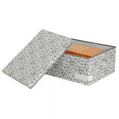 SOHO NOVO 440W x 350D x 200Hmm 帆布儲物箱(M) - 灰色花紋