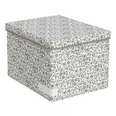 SOHO NOVO 440W x 350D x 300Hmm 帆布儲物箱(L) - 灰色花紋