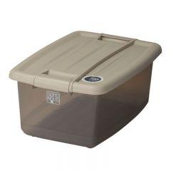 SOHO NOVO 20L 325W x 465D x 215Hmm 塑膠鎖扣儲物箱 - 奶茶色