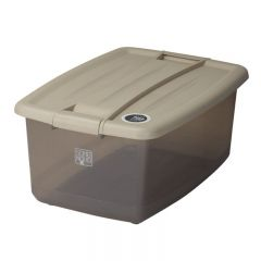 SOHO NOVO 30L 370W x 535D x 245Hmm 塑膠鎖扣儲物箱 - 奶茶色