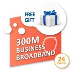 300M* 商業寬頻服務 連禮遇